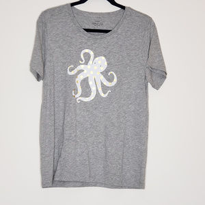J.Crew collector tee polka dot octopus tee top NWT
